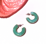 Salma Resin Earrings - Jade