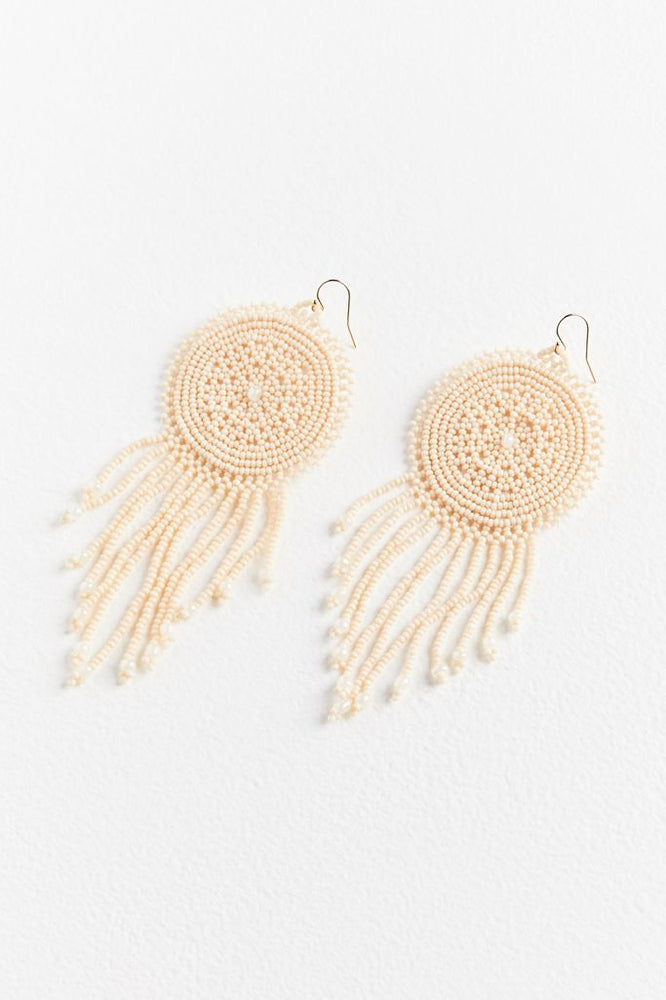 Sophie Beaded Earrings - Blanca