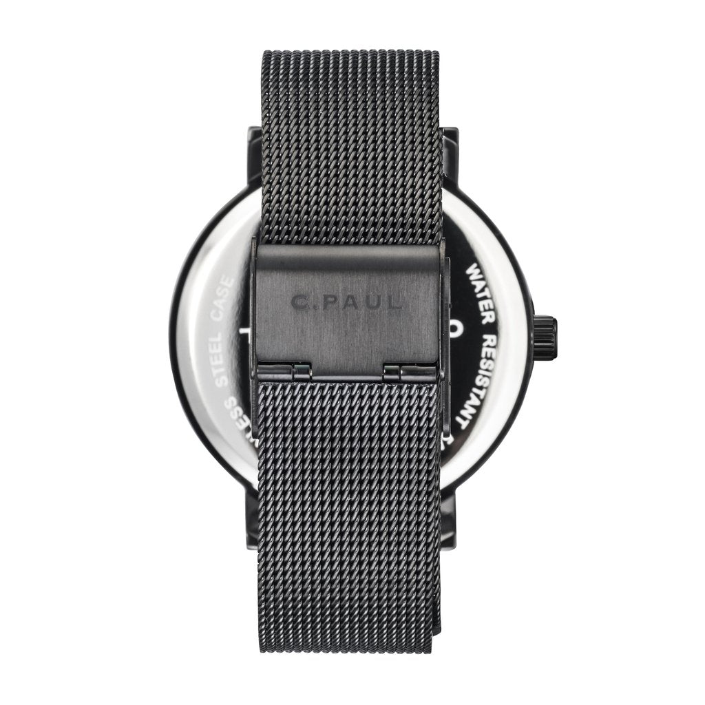 Mesh Collection - Black/Black Raw 43mm