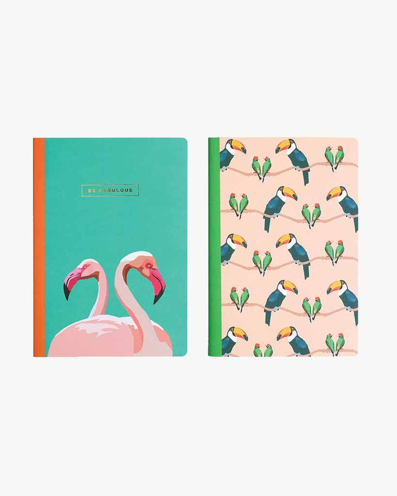 Set of Two A5 Notebooks - Be Fabulous