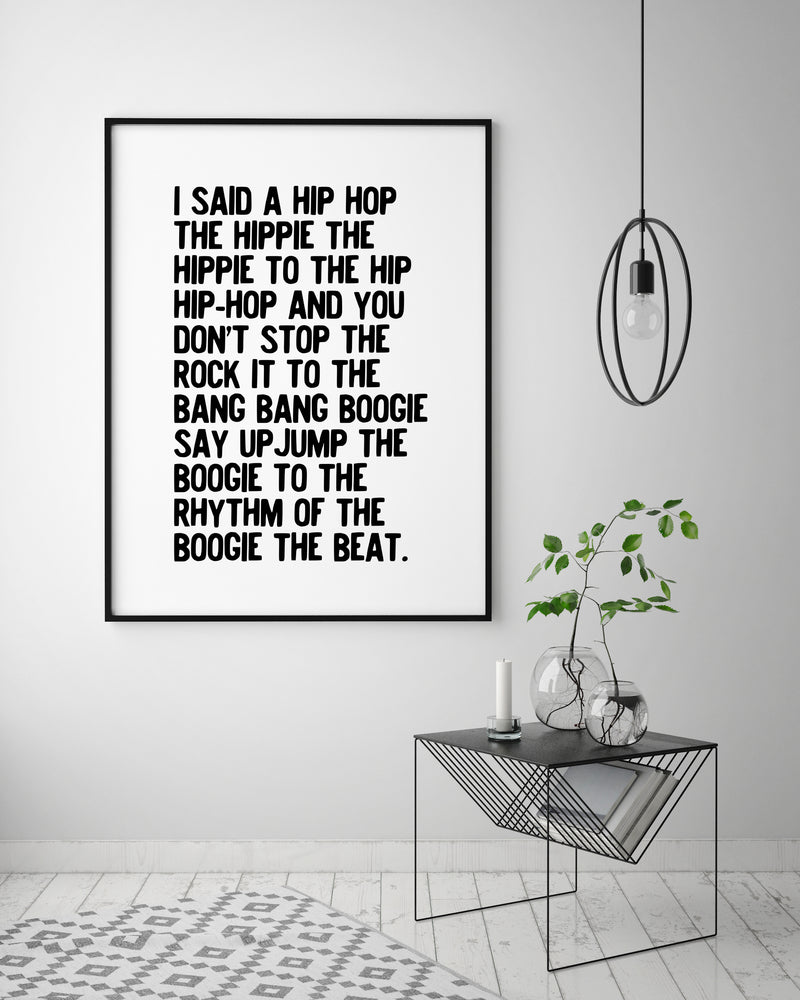 Art Print - Rappers Delight
