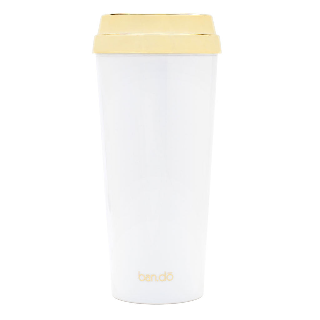Hot Stuff Thermal Mug - But First, Coffee - Gold