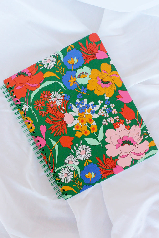 Rough Draft Mini Notebook - Emerald Super Bloom
