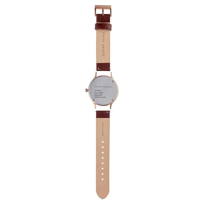 Inertia - Matte Black / White Face / Tan Strap