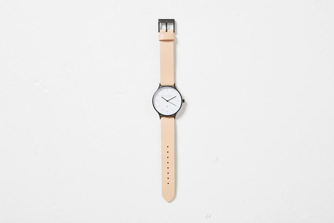 Inertia - Matte Black / White Face / White Natural Strap