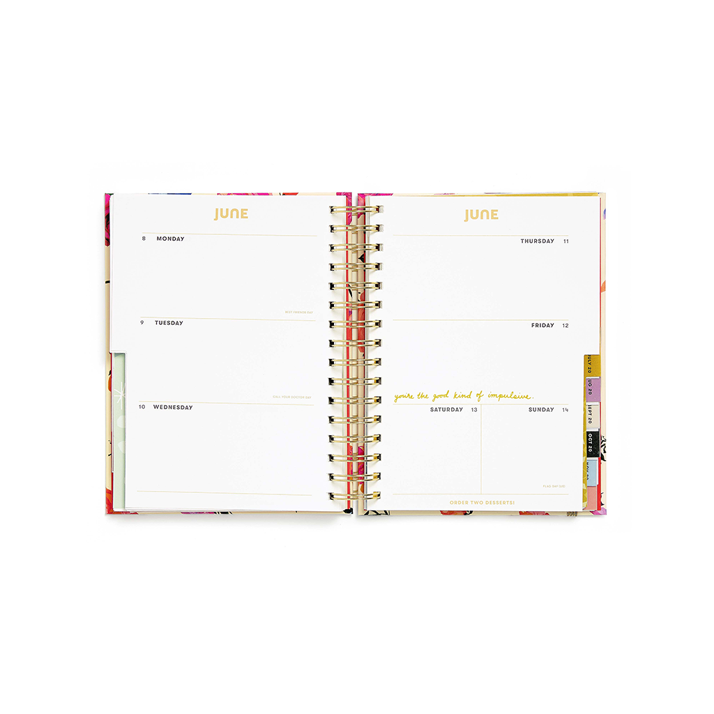 Planner 17-Month Medium [2019/2020] - Be Nice Work Hard Have Fun