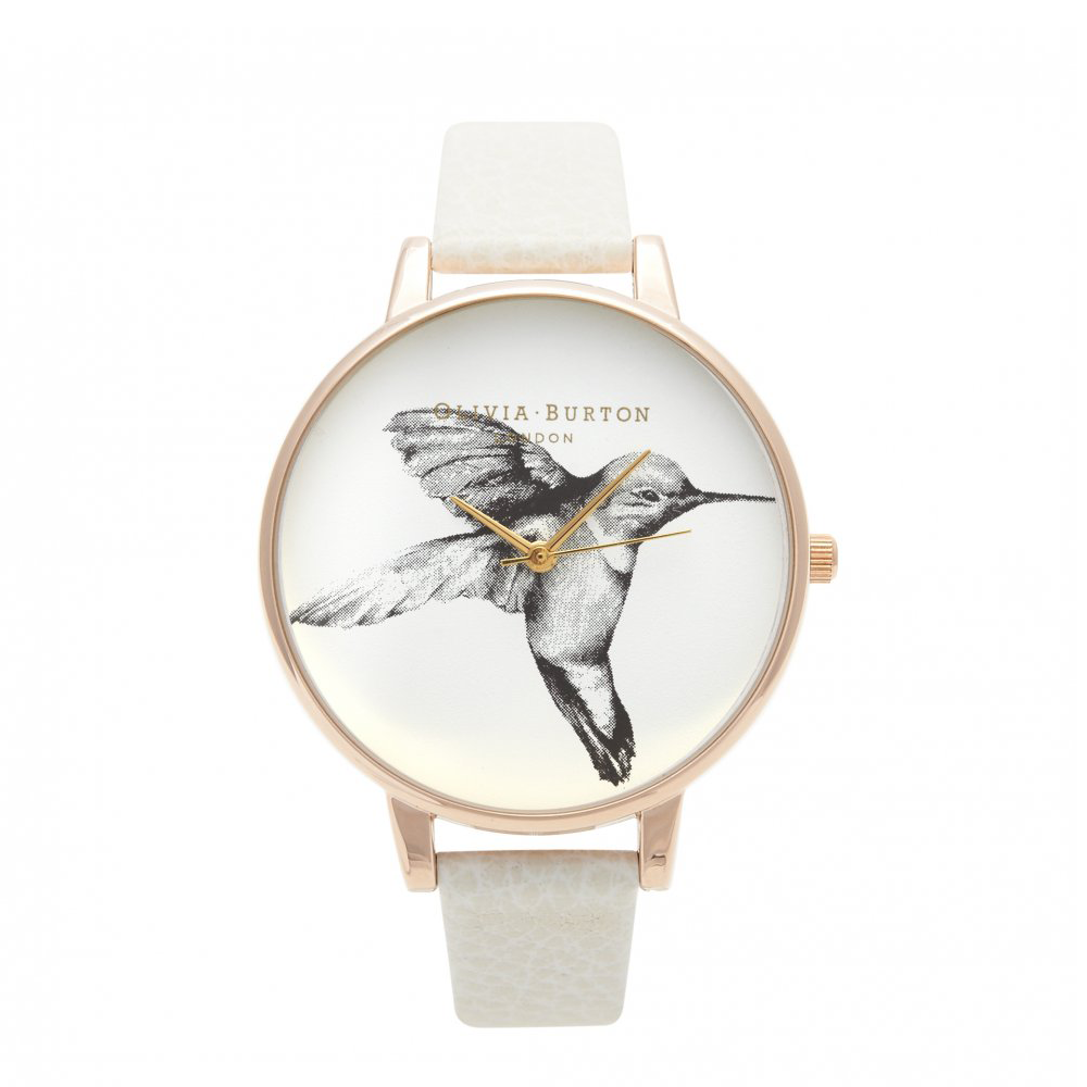 Animal Motif Hummingbird - Mink & Rose Gold