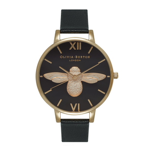 Animal Motif Moulded Bee - Black Dial & Gold