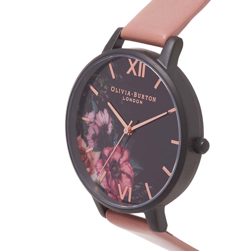 After Dark - Floral Black Rose & Rose Gold