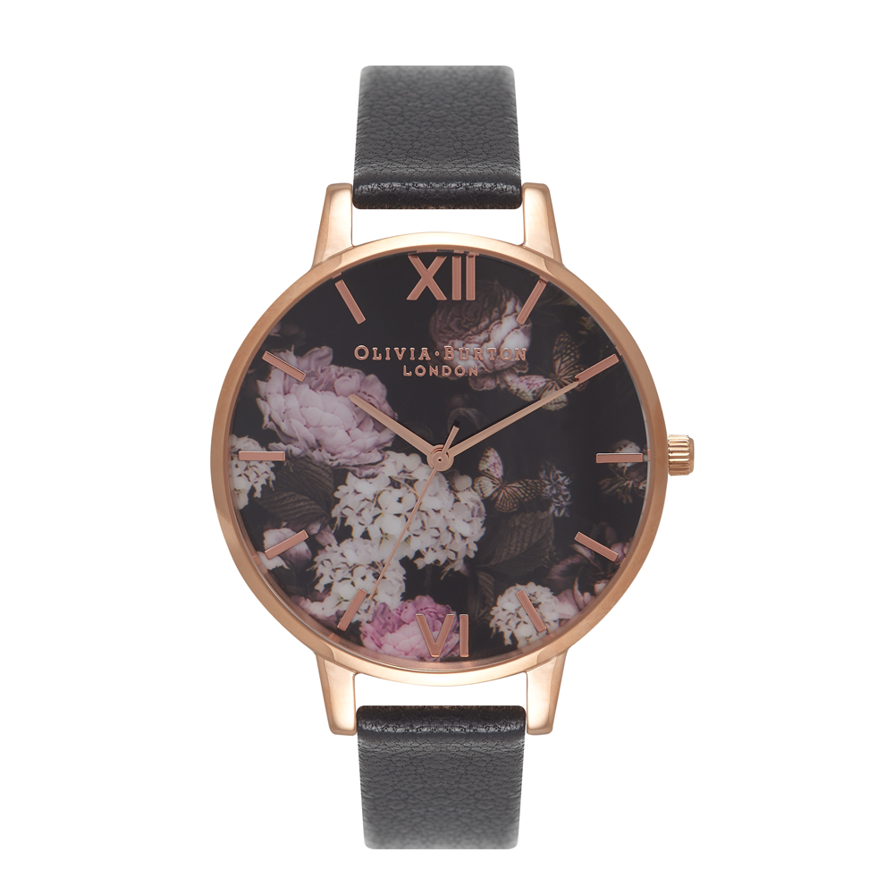 Signature Florals - Black & Rose Gold