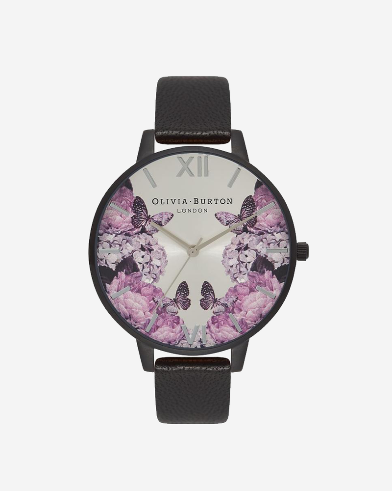 After Dark - Floral Matte Black & Silver