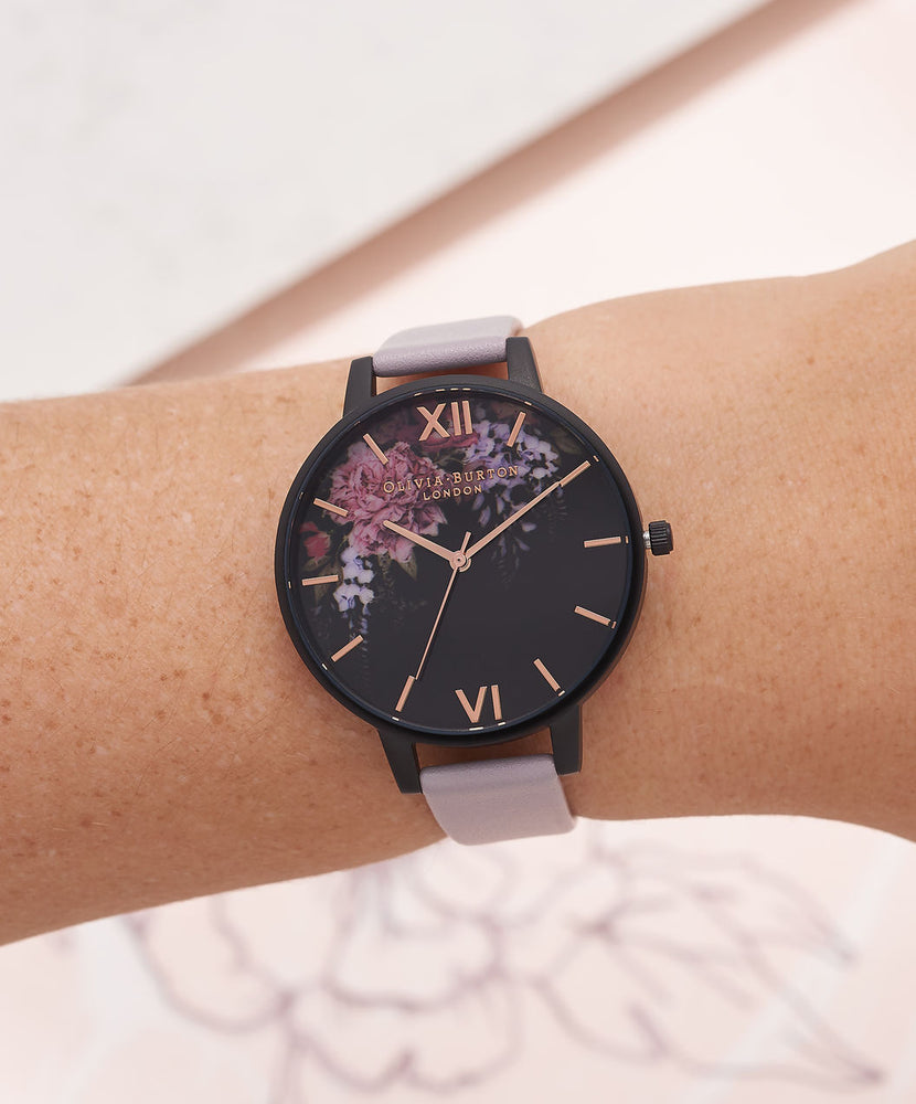 After Dark - Floral Rose Gold & Mesh Black
