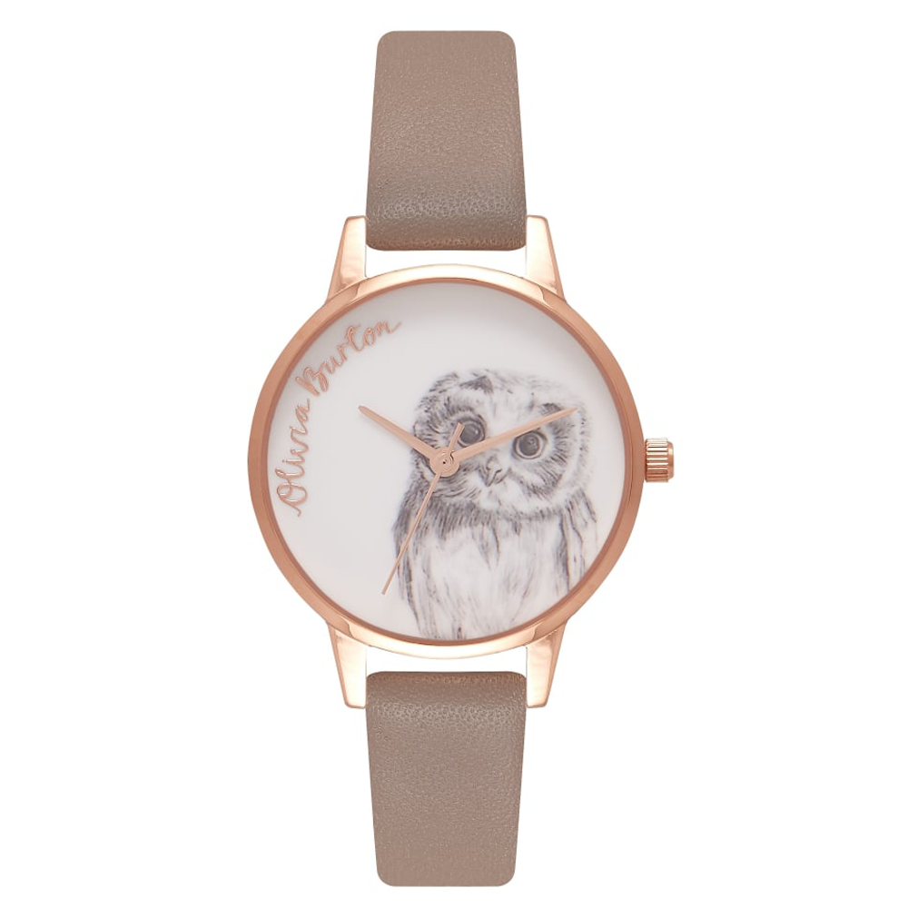 Animal Motif Owl Motif - Iced Coffee & Rose