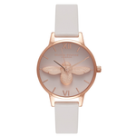 Animal Motif Moulded Bee - Midi Blush & Rose Gold