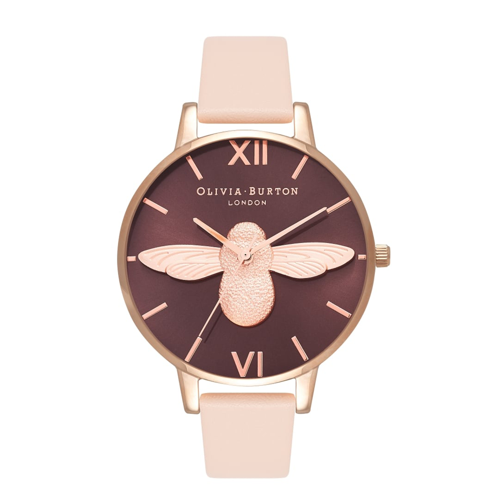 Animal Motif Moulded Bee - Nude Peach & Rose Gold