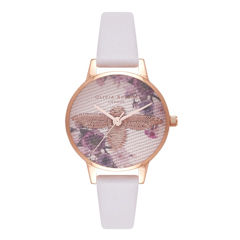 Embroidered Dial - Blush & Rose Gold
