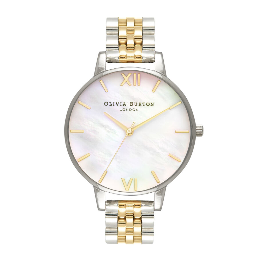 Mother Of Pearl Bracelet - Big Dial Gold & Silver
