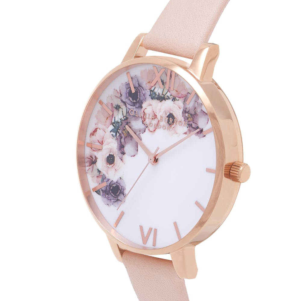 Watercolour Florals - Nude Peach & Rose Gold