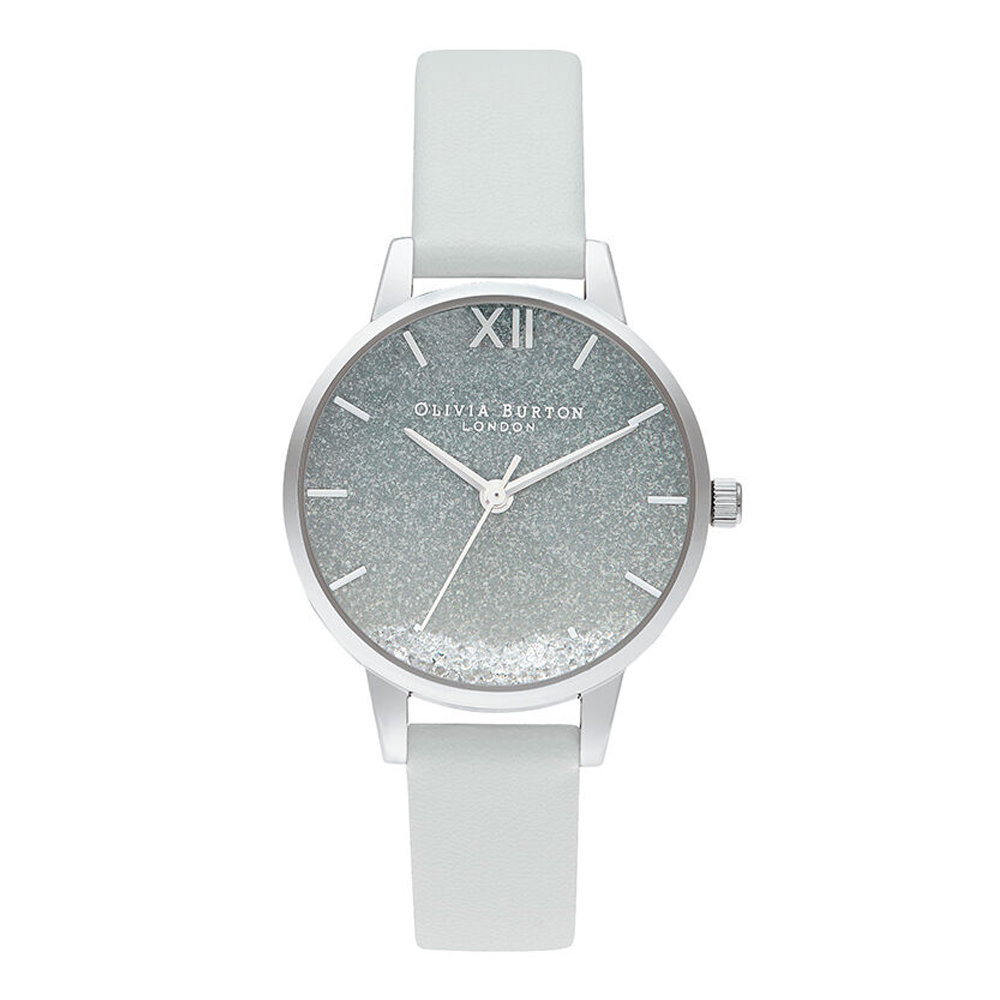 Wishing Wave Glitter Dial - Light Grey & Silver