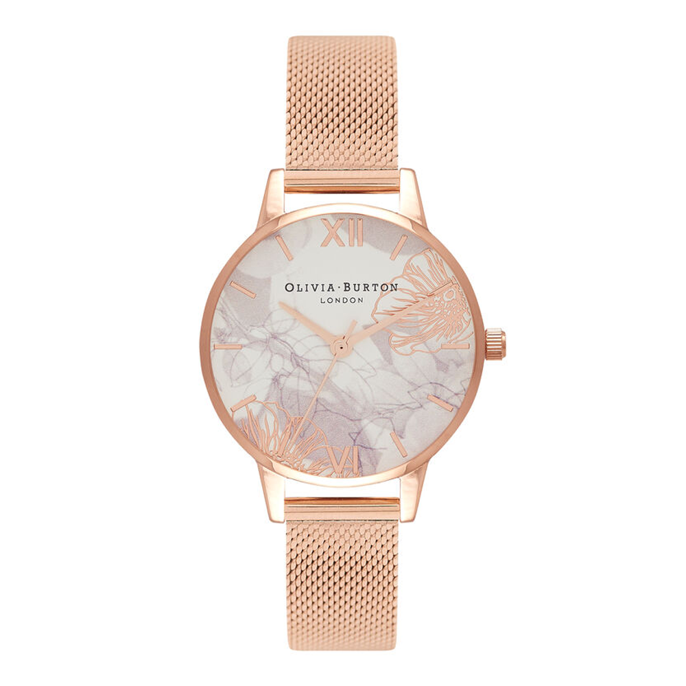 Abstract Florals - Midi Rose Gold Mesh