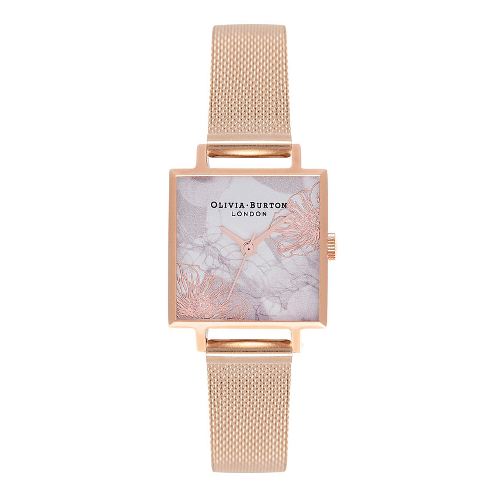 Abstract Florals - Rose Gold Mesh