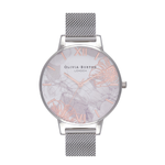 Abstract Florals - Silver Mesh