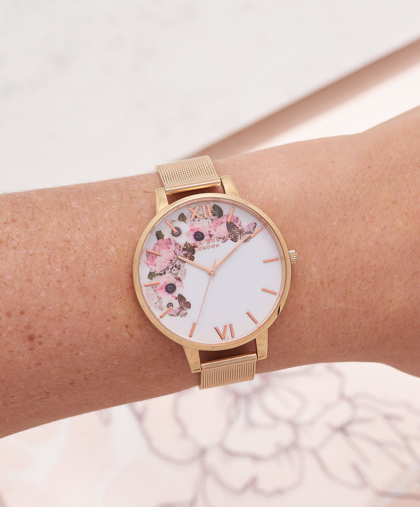 Signature Floral - Rose Gold Mesh