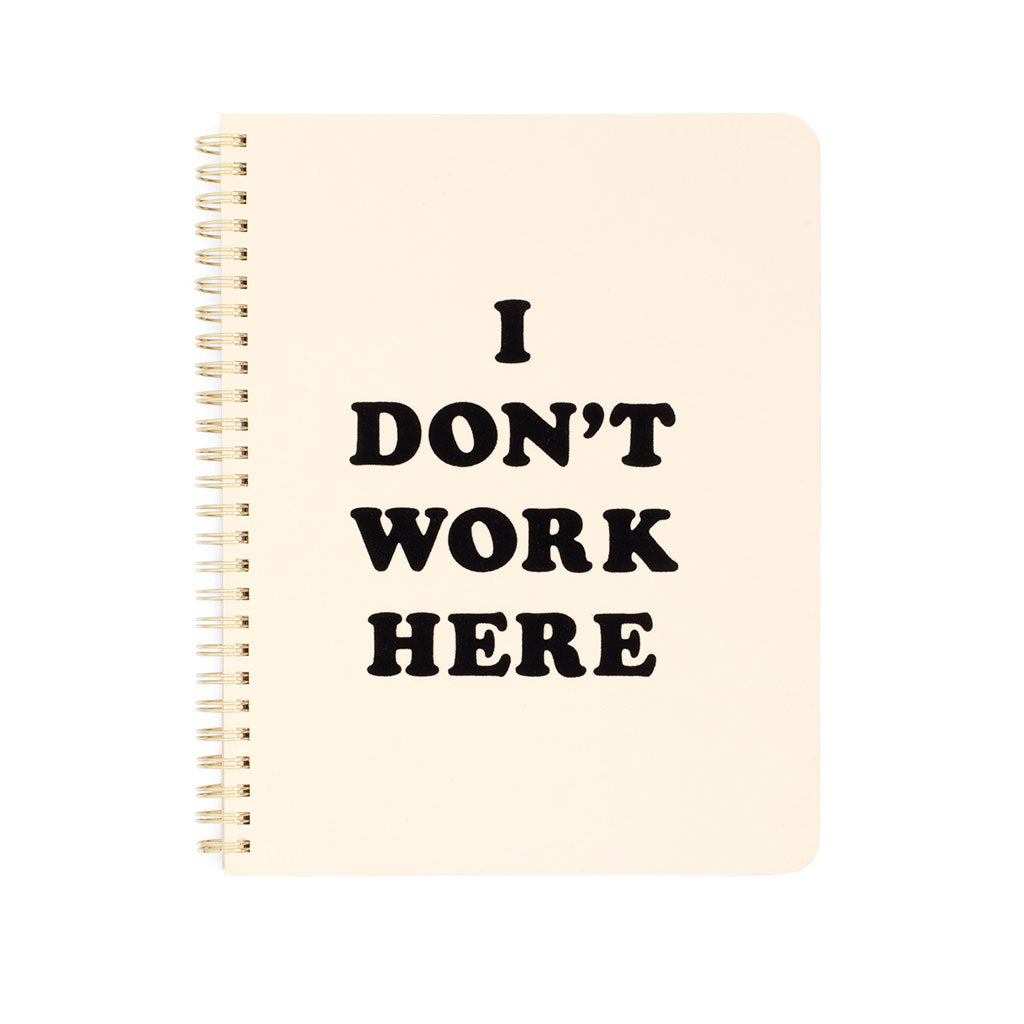 Rough Draft Mini Notebook - I Don't Work Here