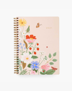 12-Month Softcover Spiral Planner 2021 - Strawberry Fields