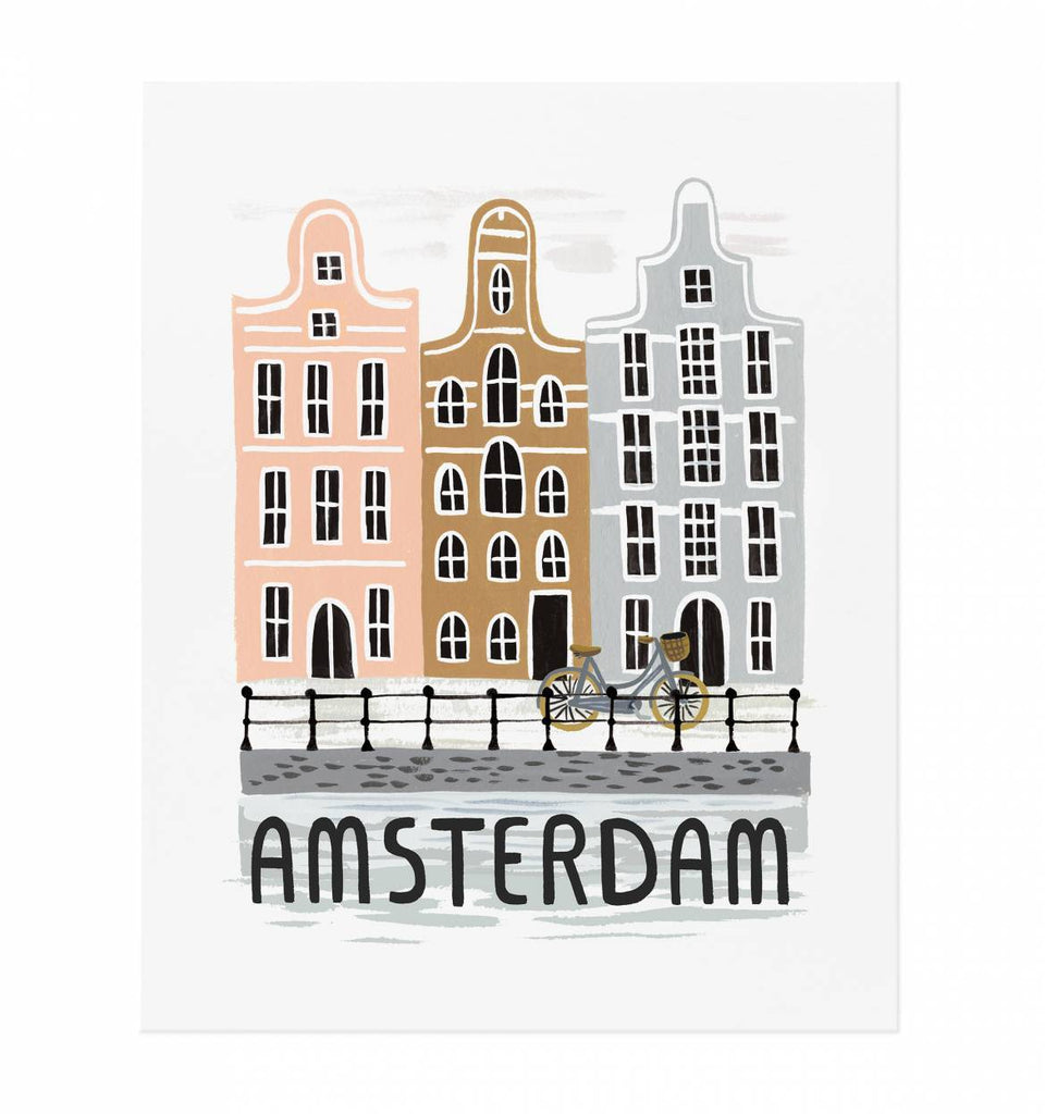 Rifle Paper Co. | Art Print - Bon Voyage Amsterdam