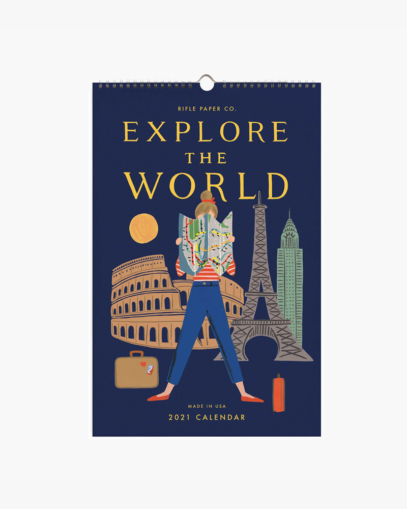 Wall Calendar 2021 - Explore The World