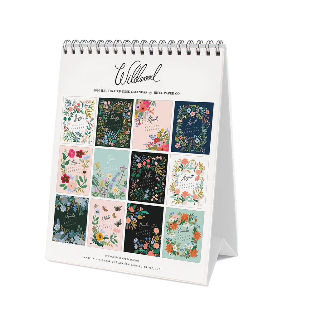 Desk Calendar 2020 - Wildwood