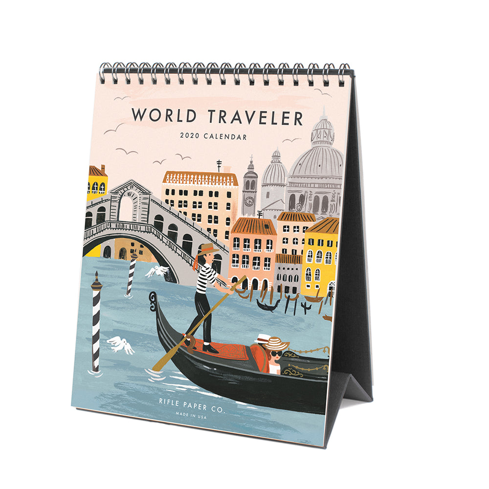 Desk Calendar 2020 - World Traveler