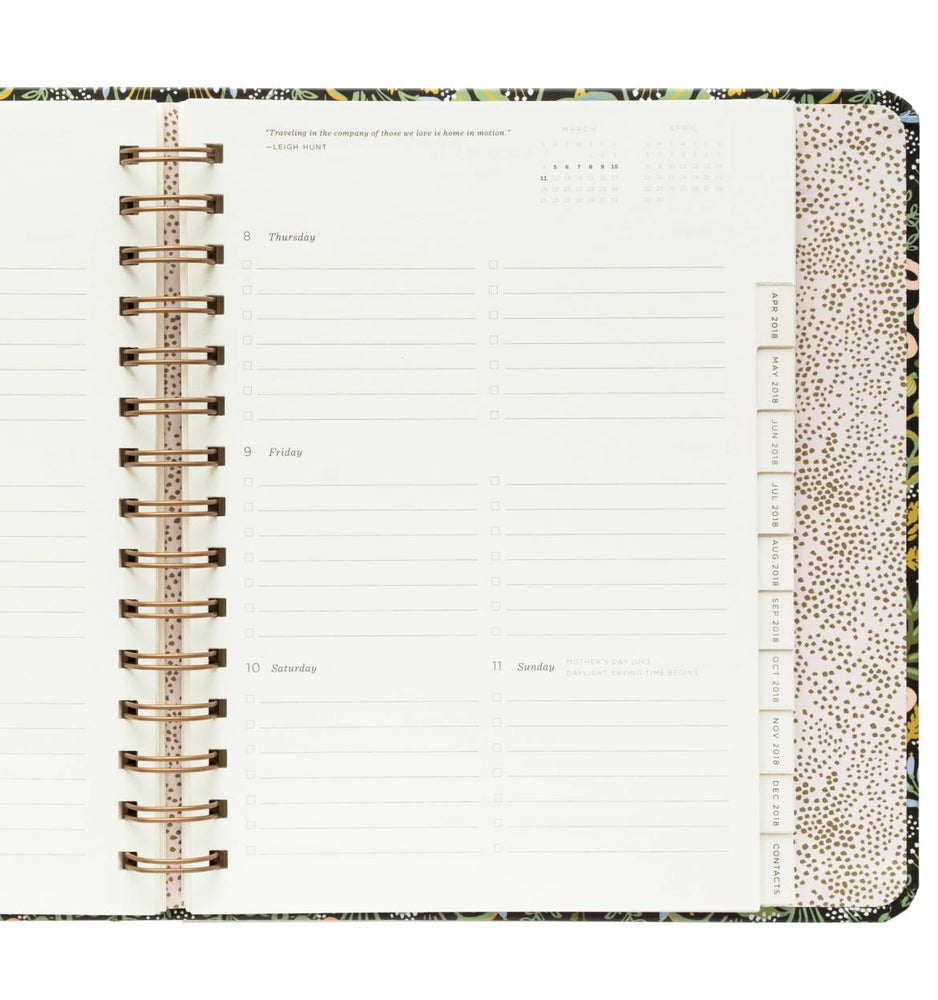 Everyday 17-Month Planner 2018 - Tapestry