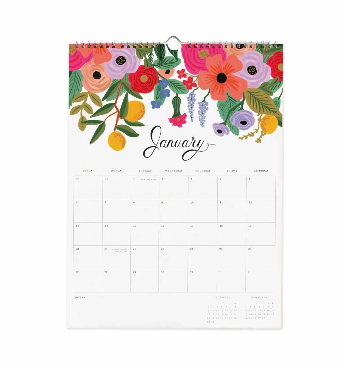 Wall Calendar 2019 - Bouquet