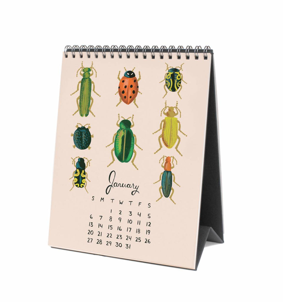 Desk Calendar 2019 - Midnight Menagerie
