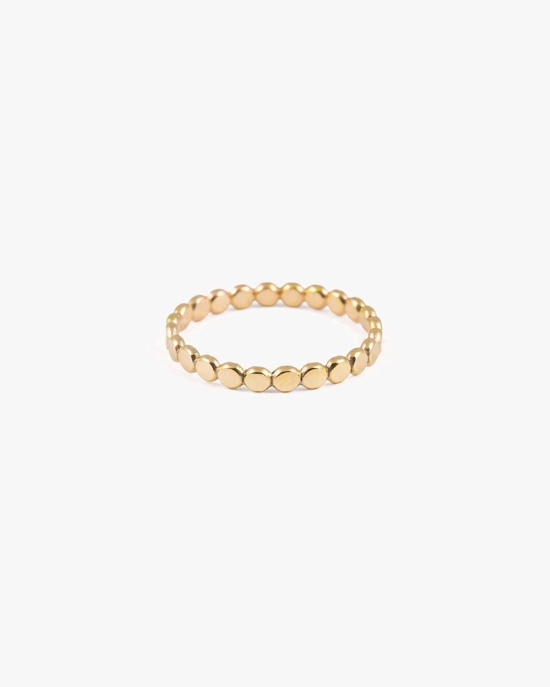 Sequin Stacking Ring - Gold