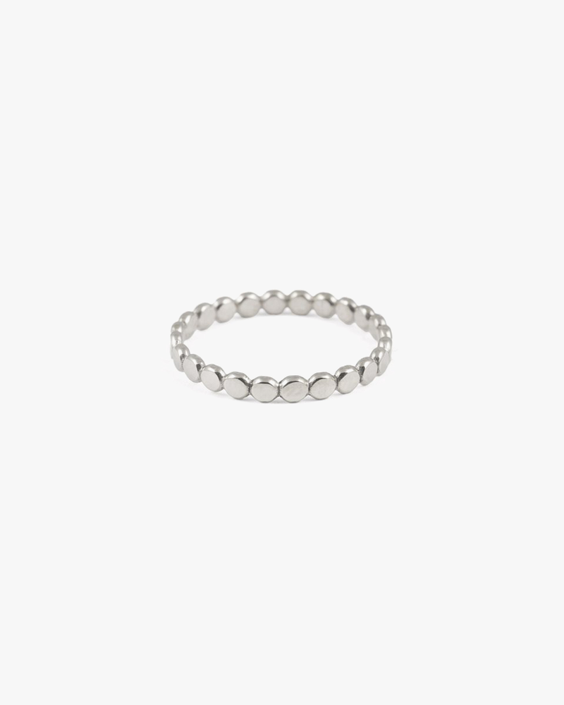 Sequin Stacking Ring - Silver