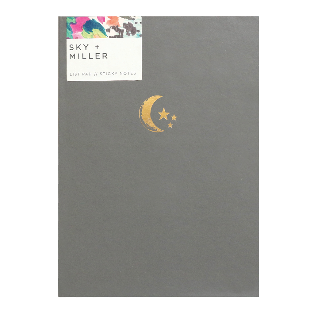 Memo Notes - Moon + Stars / Pewter