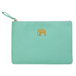 Zip Pouch - Elephant / Mint