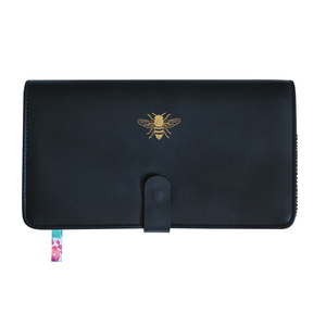 Travel Wallet - Black + Bee