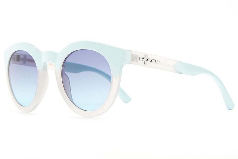 The T.V. Eye - Gloss White Glitter & Sky Blue
