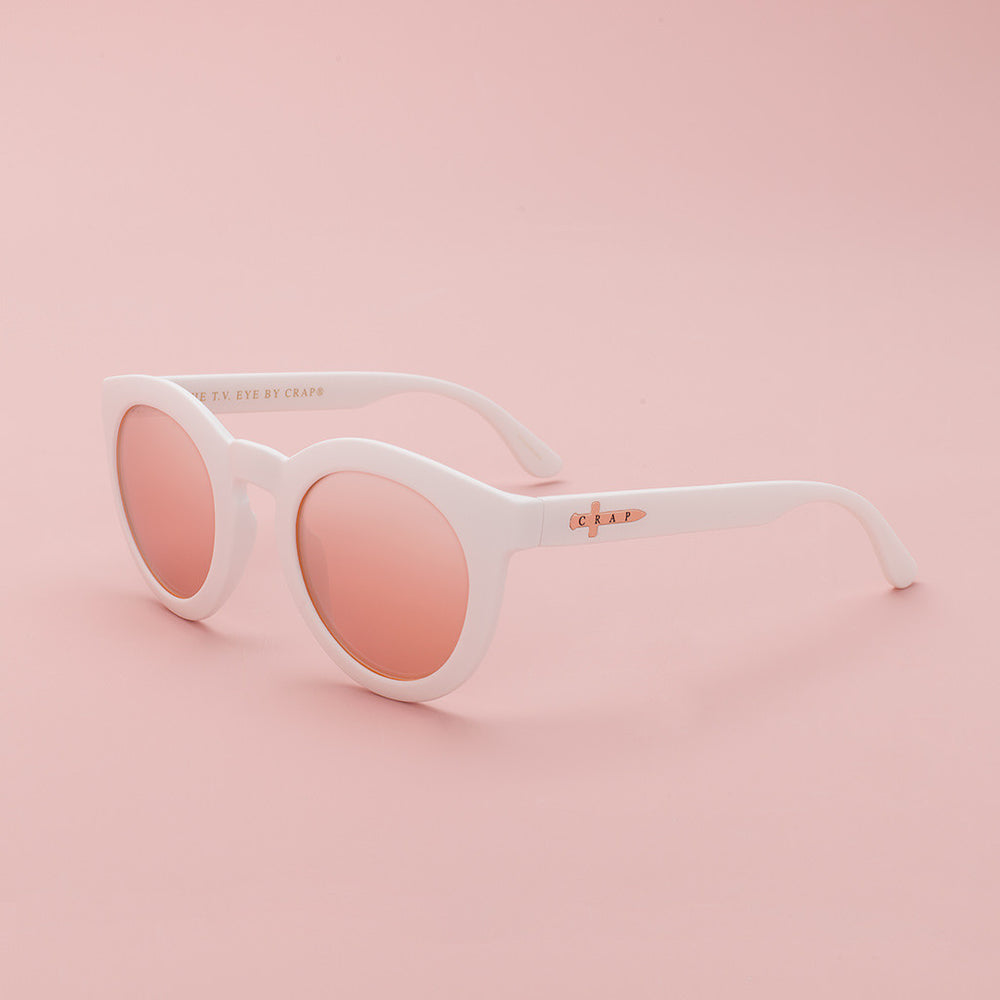 The T.V. Eye - Matte White Rose Gold