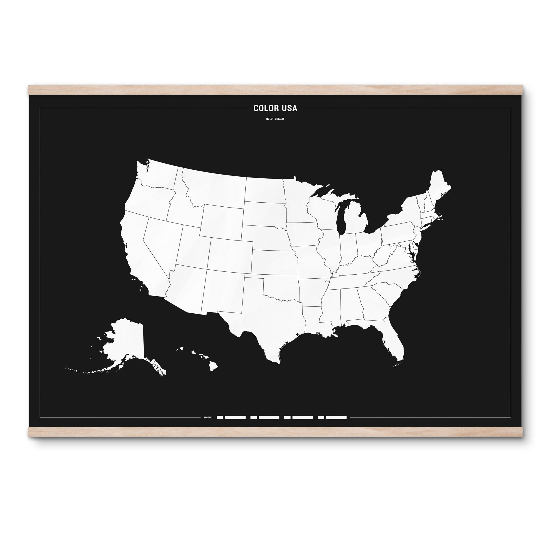Color USA Travel Map Poster