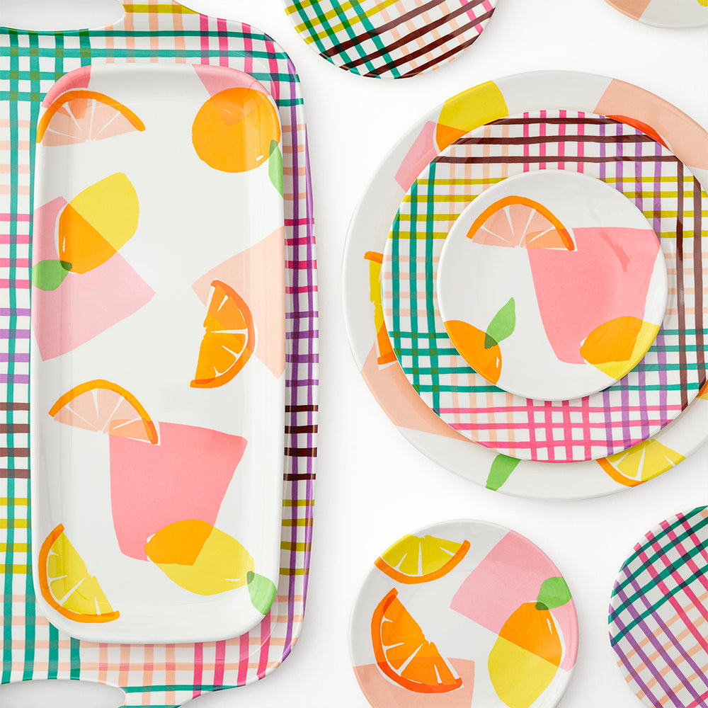 Serving Tray - Rainbow Gingham