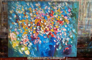 Buyer's Review on Heavy Texture Oil Painting Flower Painting Painted with Palette Knife