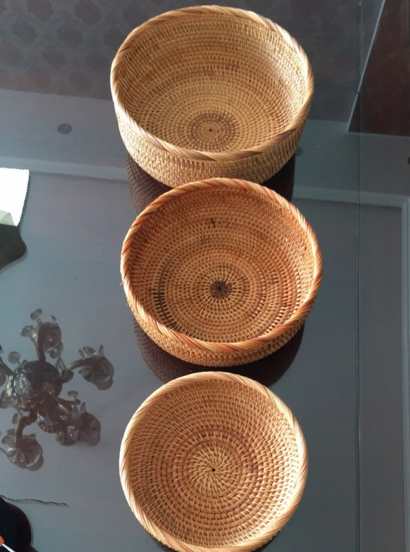 Woven Baskets, Storage Baskets, Handed Woven Basket for Dining Room and Kitchen