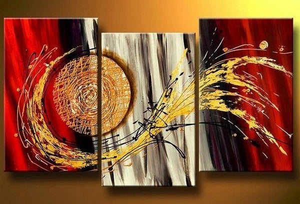 3 Piece Acrylic Painting, Abstract Painting on Canvas, Canvas Painting for Living Room, Hand Painted Canvas Art, Large Painting for Sale