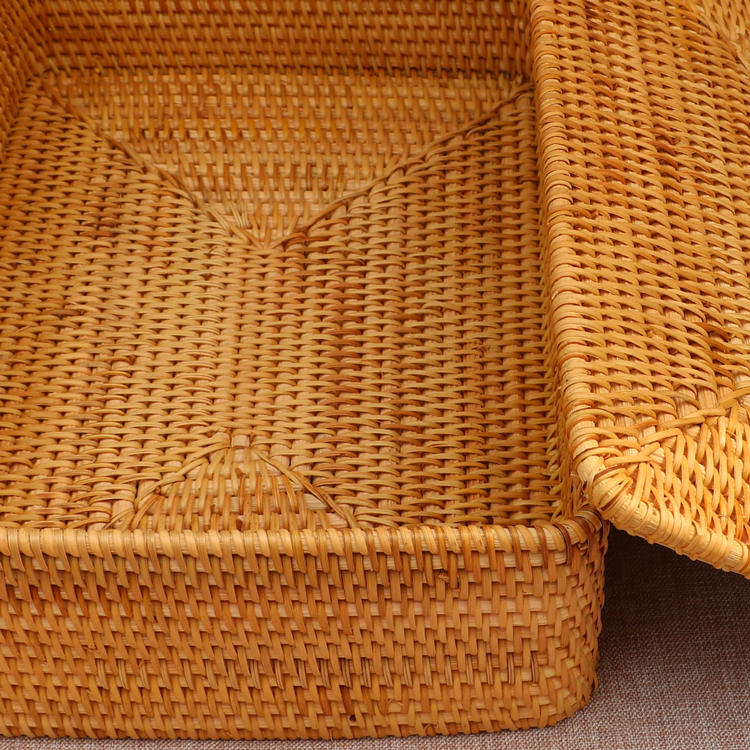 Rectangle Woven Basket with Lip