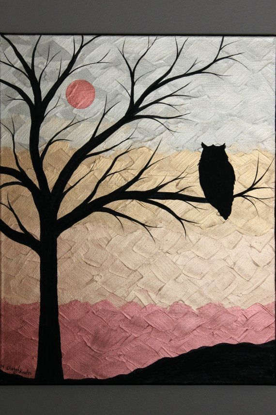 Beautiful Easy Acrylic Painting Ideas for Beginners, Easy Landscape Painting Ideas, Easy Painting Ideas for Kids, Simple Abstract Painting Ideas, Owl Painting, Moon Painting, Easy Canvas Painting Tips for Beginners